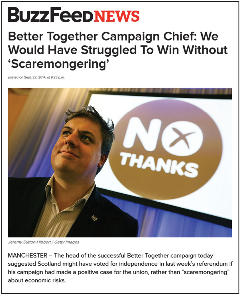 better together would have struggled to win without fear factor
