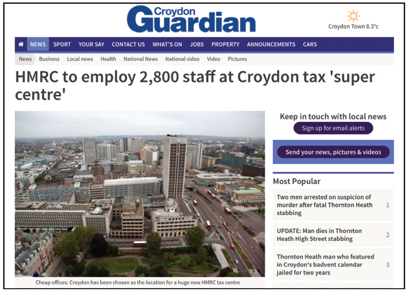 croydon jobs created after no vote