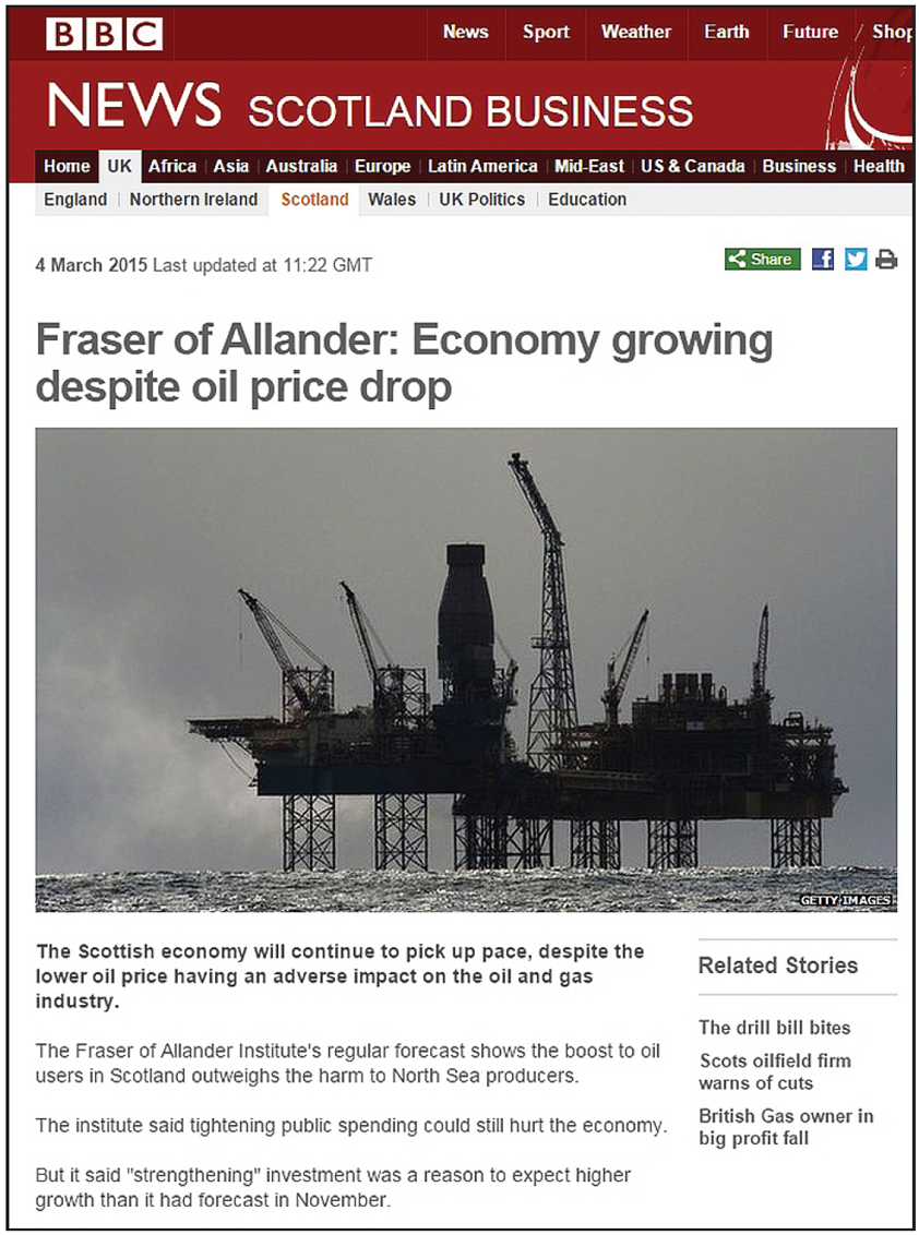 fraser of allander oil price not affecting economy